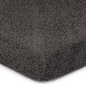 Cearșaf de pat 4Home din frotir, gri închis, 180 x 200 cm, 180 x 200 cm