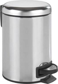 Coș de gunoi cu pedală Wenko Leman Shiny, 3 l, argintiu