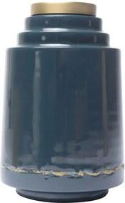 Vaza Albastra din Metal OLIA - Metal Albastru Lungime(15 cm) x latime(15 cm) x Inaltime(24 cm)