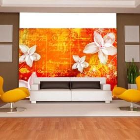Fototapet Bimago - Floral notes II + Adeziv gratuit 250x175 cm