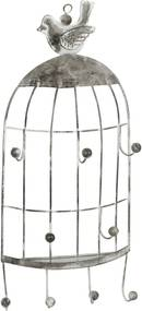 Cuier metal gri suspendabil Bird 14x5x31 cm
