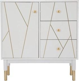 Dulap Mauro Ferretti Luxy, lățime 80 cm, alb