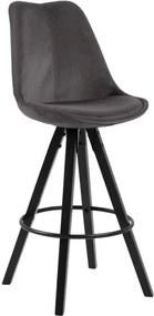 Set 2 scaune bar Actona Dima Bar, gri închis