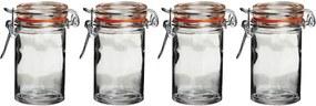 Set 4 borcane din sticlă cu capac Premier Housewares