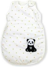 AMY - Sac de dormit fara maneci Golden Dot Panda Cu broderie, 80 cm, 74x50 cm