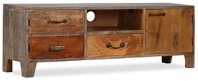 244967 vidaXL Comodă TV din lemn masiv de acacia, vintage, 118 x 30 x 40 cm