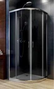 Cabina de dus semirotunda Aquaform Nigra, 80x80x185 cm sticla gri -100-40061