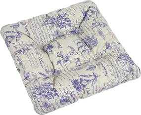 Pernă de scaun Adela plante violet, 40 x 40 cm