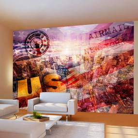 Bimago Fototapet - New York - patriotic theme 400x280 cm