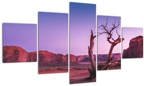 Tablou u copaci lângă pietrile roșii (125x70 cm), în 40 de alte dimensiuni noi