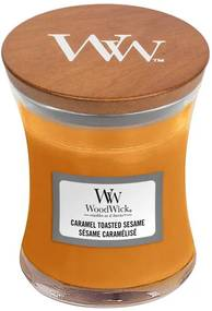 WoodWick parfumata lumanare Caramel Toasted Sesame vaza medie