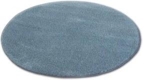 Covor rotund Shaggy Micro gri cerc 60 cm