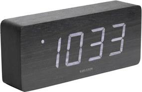 Ceas alarmă cu aspect de lemn, Karlsson Cube, 21 x 9 cm