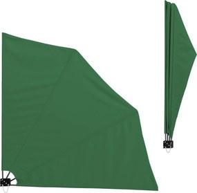 [casa.pro]®. Umbrela de soare montabila pe perete - Paravan solar de perete verde