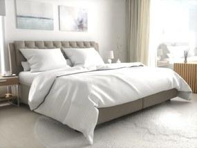 Lenjerie de pat pentru hoteluri Atlas Gradl albă - banda de 2 cm din bumbac cardat