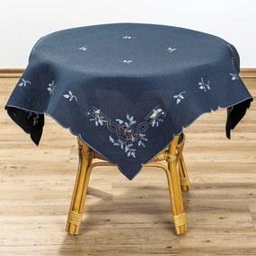 Față de masă Crăciun vâsc, albastru, 85 x 85 cm