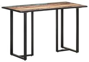 320690 vidaXL Masă de bucătărie, 120 cm, lemn masiv reciclat
