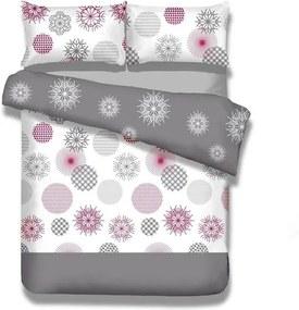 Lenjerie de pat din flanel AmeliaHome Flakes, 140 x 200 cm