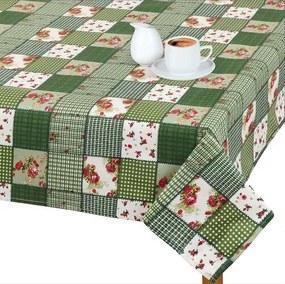 Față de masă Adéla Patchwork verde, 70 x 70 cm, 70 x 70 cm