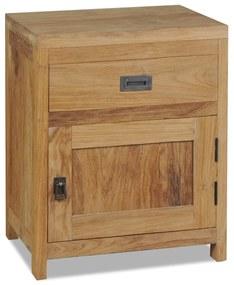 244484 vidaXL Noptieră din lemn de tec masiv, 40 x 30 x 50 cm
