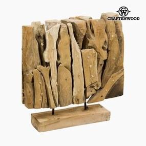 Sculptură Lemn (40 x 12 x 40 cm) by Craftenwood