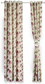 Set 2 draperii decorative, Heinner, HR-DR140-FLWPK, 140x270 cm, 100% bumbac