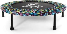 Klarfit Rocketbaby 5, model floral, trambulină, spațiu pentru sărituri 96 cm