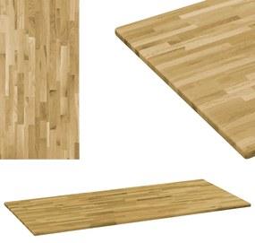 Blat masă, lemn masiv de stejar, dreptunghiular, 23mm 100x60cm