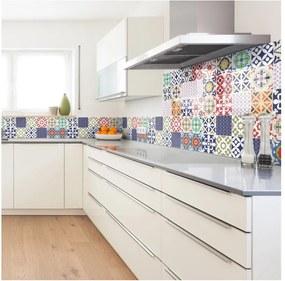 Set 30 autocolante de perete Ambiance Tiles Azulejos Vinito, 15 x 15 cm