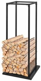 Rastel pentru lemne de foc, cu postament, 113 cm