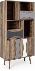 Biblioteca lemn Dionisio 80 cm x 35 cm x 158 h
