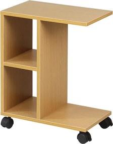 Măsuţă portabilă, lemn de pin, ABBAS NEW