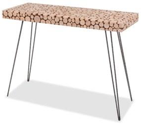 244726 vidaXL Masă consolă, 100,5 x 36,8 x 75 cm, lemn de brad autentic