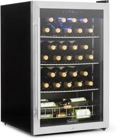 Klarstein FALCON CREST, frigider pentru băuturi, ușă din sticlă, 4-18 ° C, 128 L, 42 db, oțel