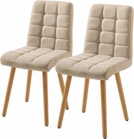Set de 2 scaune Doskie, bej
