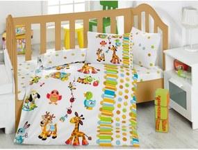 Lenjerie de pat și cearșaf pentru copii Oyun, 100 x 150 cm