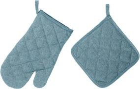 Set mănușă și șervet termic Unimasa, albastru