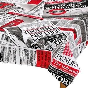 Față de masă Ema Ziare roșu, 70 x 70 cm, 70 x 70 cm