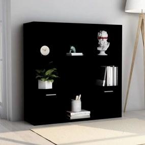 801117 vidaXL Bibliotecă, negru, 98 x 30 x 98 cm, PAL