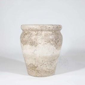 Vaza Roma Travertin Latte 30 x 25 x 25 cm