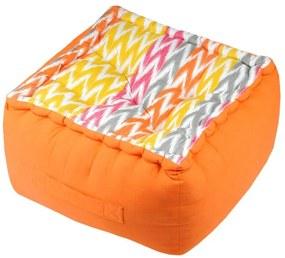 Perna portocalie podea Ikati Orange 40x40x30 cm