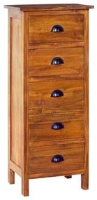 289067 vidaXL Servantă, 45 x 35 x 110 cm, lemn masiv de tec