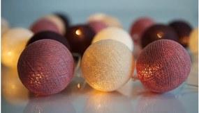 Șirag luminos Irislights Dusty Pink, 20 bile