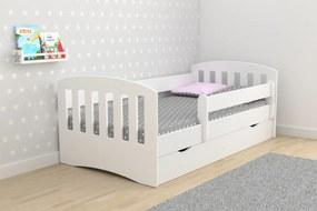 Pat classic pentru copii-alb 160x80 cm pat fără spațiu de depozitare