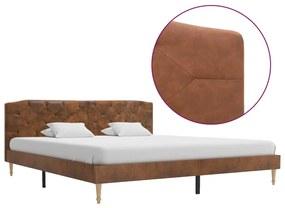 280566 vidaXL Cadru de pat, maro, 180 x 200 cm, piele întoarsă artificială