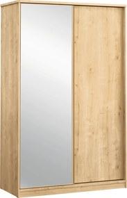 Dulap din PAL cu usi glisante si oglinda Mocha 132x206x59 cm