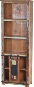 Biblioteca din lemn reciclat Jupiter 66x180 cm