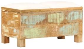 245137 vidaXL Bancă de depozitare, 80x40x40 cm, lemn masiv reciclat
