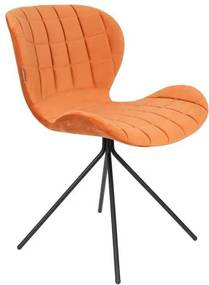 Scaun dining din catifea portocalie OMG Velvet Orange