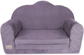 Klups - Canapea Catifea din Spuma, 89x50 cm, Violet